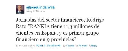Comentario confundiendo a Rankia con Bankia