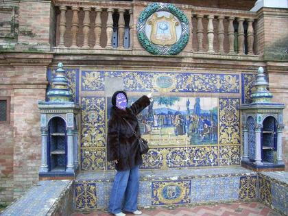 Vizcaya en Sevilla junto a Marciana...