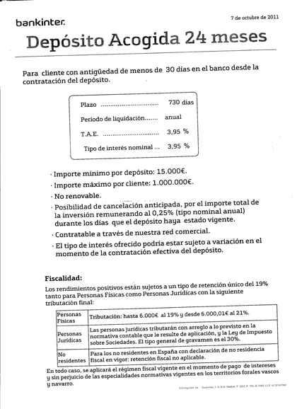 Deposito bankinter rankia for Oficinas bankinter vigo