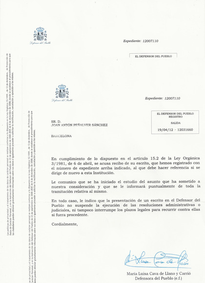 Carta DEfensor del Pueblo