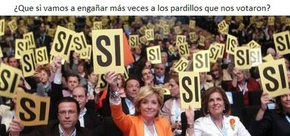 Imagen del congreso del PP de Madrid de hoy