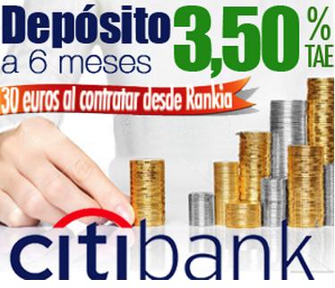Depósito rentabilidad Citibank