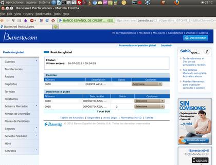 Nueva interfaz web de ibanesto