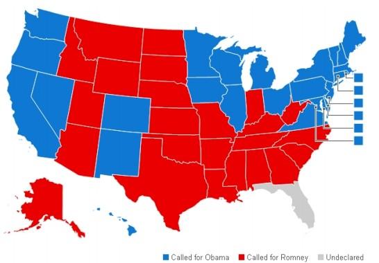 mayoria geografica de las elecciones de obama