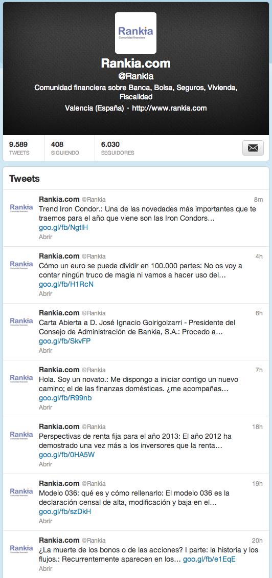 Twitter Rankia