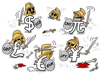 Resultado de imagen de divisas dólareuro  libra esterlina  yen nipón  yuan chino franco suizo