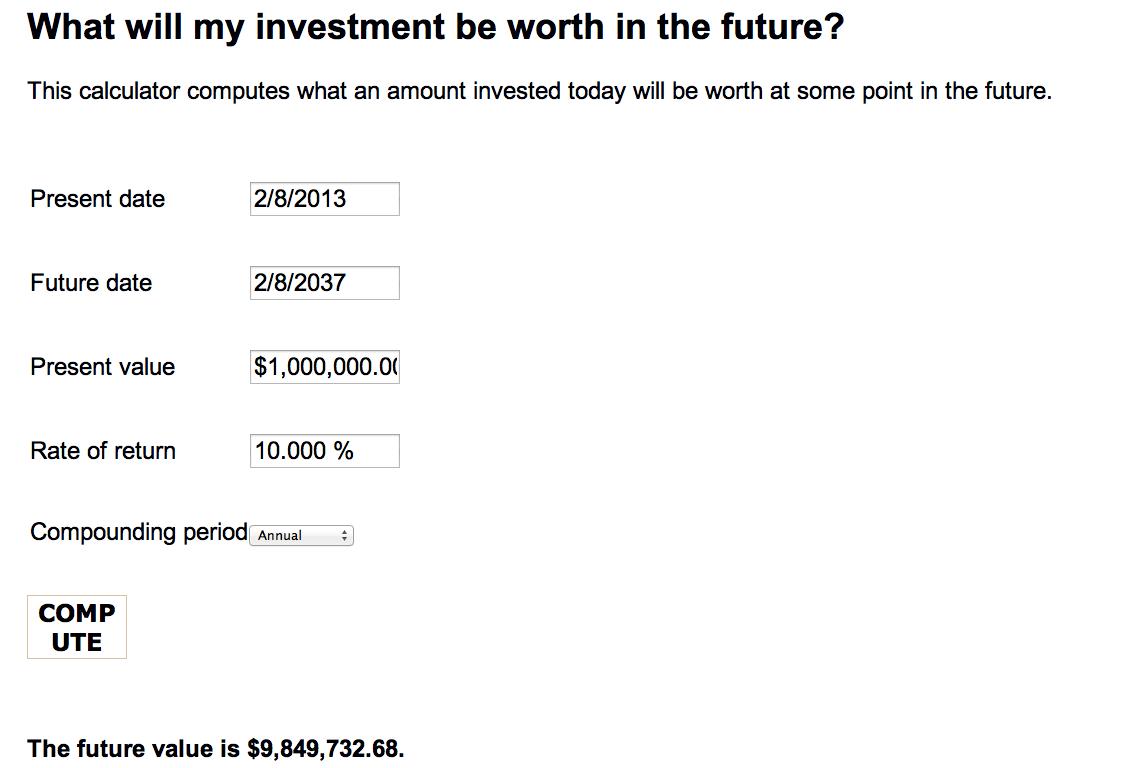 valor futuro inversión
