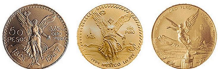 Centenario Mexicano, moneda