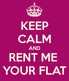 Keep calm and rent me your flat thumb