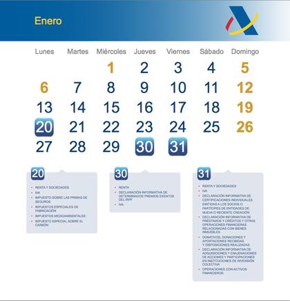 Calendario fiscal enero 2014 foro