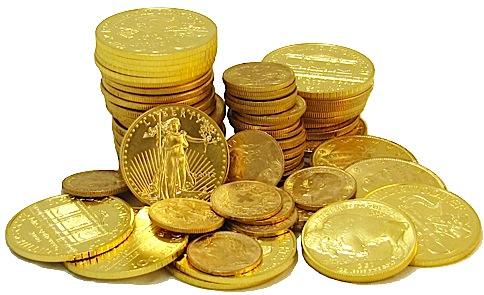 monedas oro físico