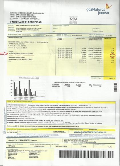 La factura de la luz baj un 3 1 en 2013 rankia for Oficina union fenosa