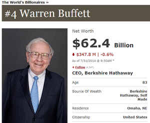 Warren buffet col