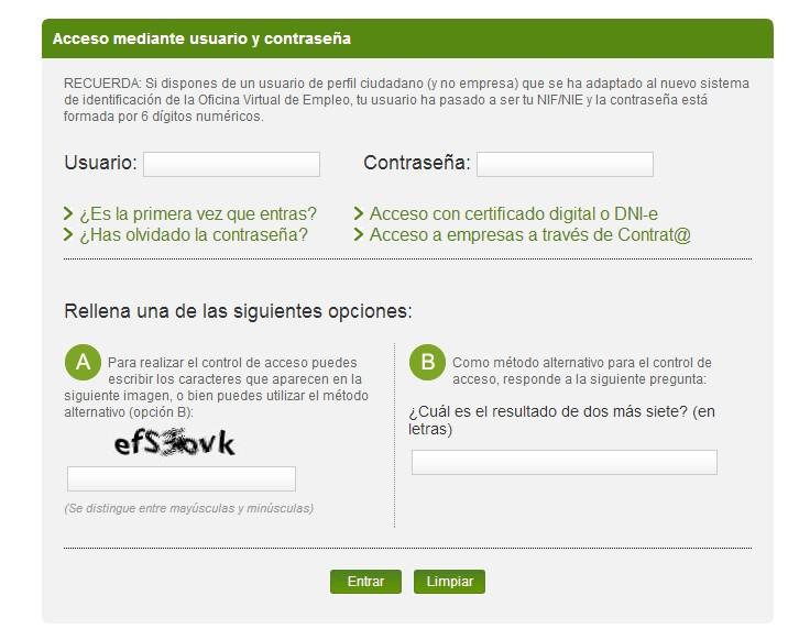C mo sellar el paro a trav s de internet rankia for Oficina virtual xunta galicia