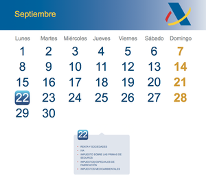 Calendario fiscal septiembre 2014 col