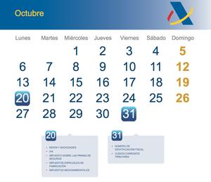 Calendario fiscal octubre 2014 col