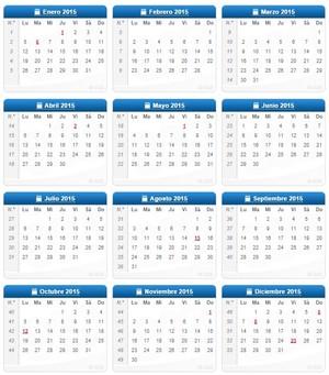 Calendario laboral 2015 col