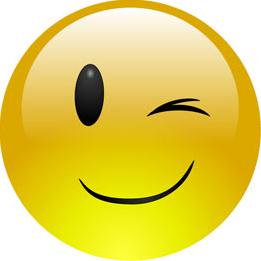 Emoticon feliz gui%c3%b1o ojo (1) col