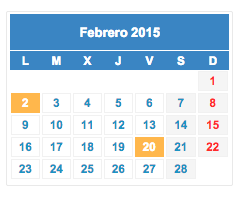 Calendario fiscal febrero 2015 col