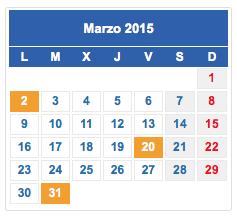Calendario fiscal marzo 2015 col