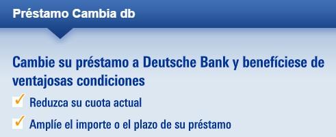 Préstamo deustche bank