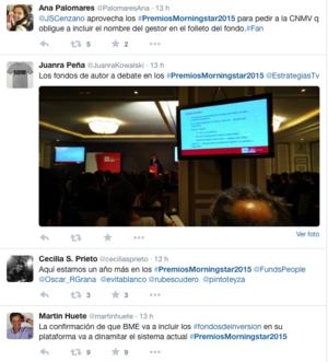 Twitter premios morningstar 2015 col