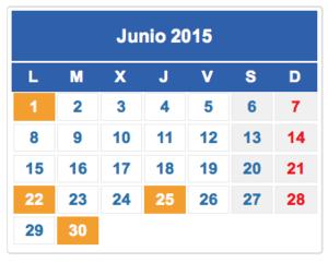Calendario fiscal junio 2015 col