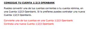 Convierte cuenta 123 col