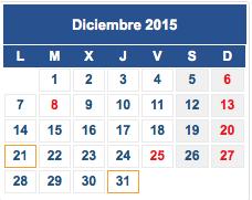 Calendario fiscal diciembre 2015 col