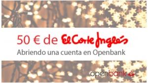 Promocion openbank cheque el corte ingles col