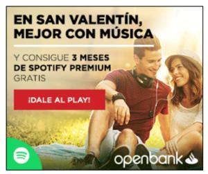 Promocion openbank spotify col