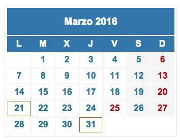 Calendario fiscal marzo 2016 foro
