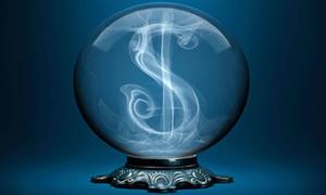 Bola de cristal dinero col