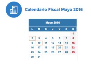 Calendario fiscal mayo 2016 col