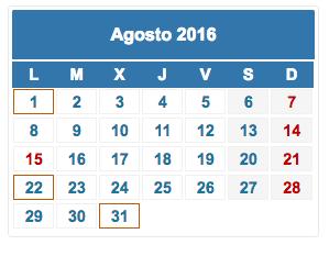 calendario fiscal agosto 2016