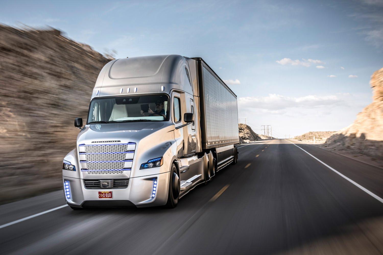 Camión de transporte de mercancías