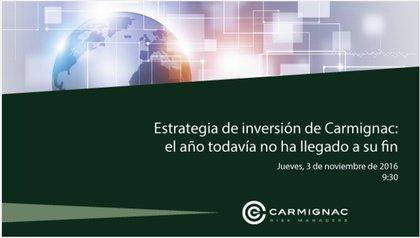 Conferencia carmignac 3 noviembre foro