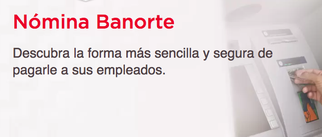Cuenta Nómina Banorte