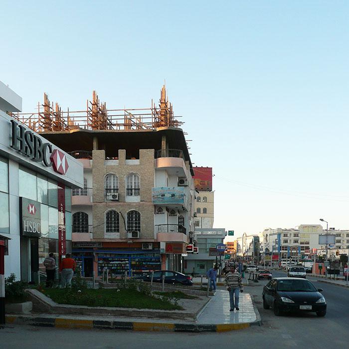 Стройка в центре Хургады