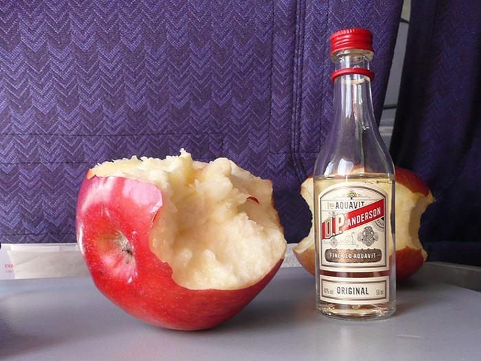 Яблоко и алкоголь