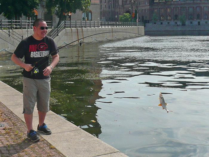 Ловля рыбы в Стокгольме