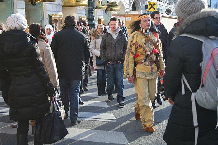 Индеец в Вене