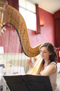 wedding harp photograph essex suffolk