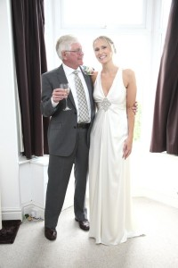 bride and father wedding photograph