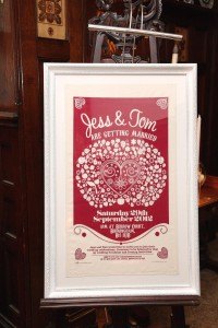 wedding photo tea towel invitation suffolk essex