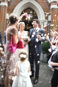 confetti wedding photo west suffolk