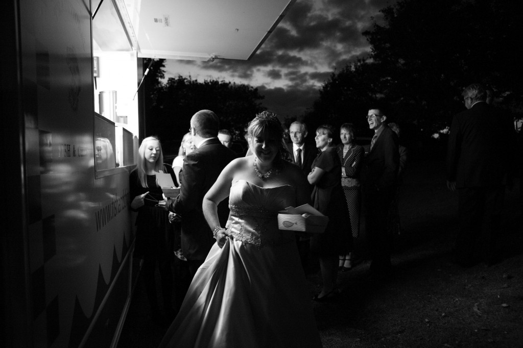 fish and chips wedding photograph haverhill suffolk
