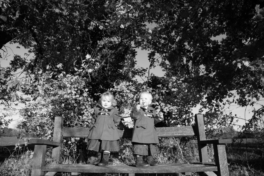 twins photo portrait autumn suffolk