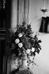 linton church wedding flowers photograph