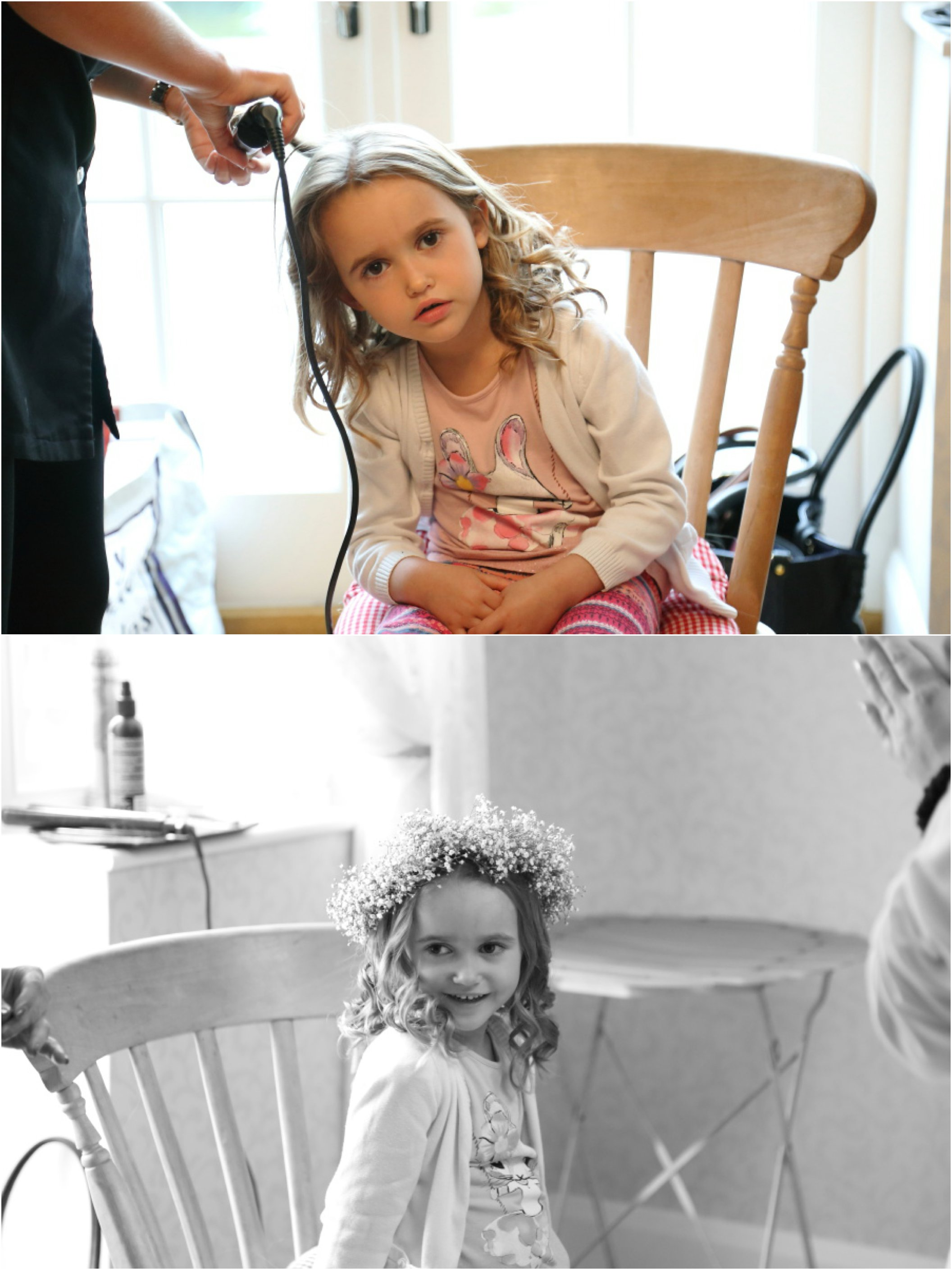essex-alternative-wedding-photography / flowe girl with floral crown